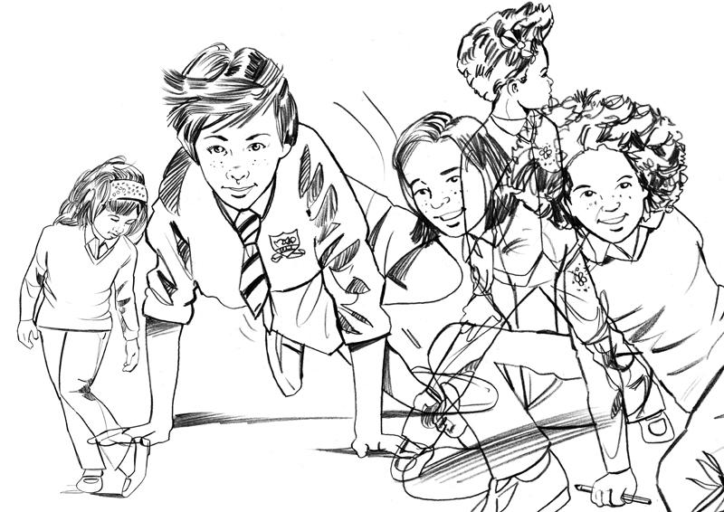 Kids_linework